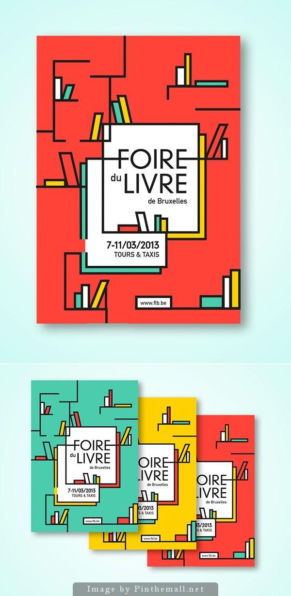 Book Fair - Poster  / Alice Dillon Corneck / #bookfair #poster #foiredulivre #bruxelles