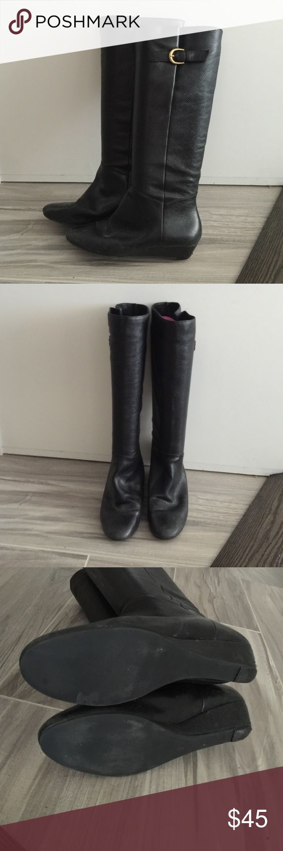 Steve Madden Intyce 7.5 Black Leather Boots Steve Madden Intyce 7.5 Black Leather Boots Steve Madden Shoes Heeled Boots