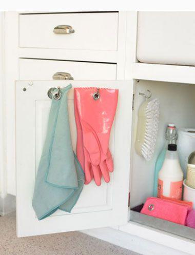 Компактное и удобное размещение кухонной утвари