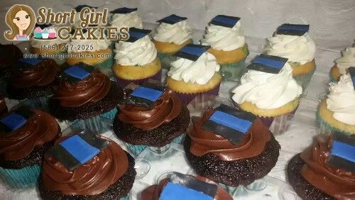 #thinblueline Police Officer Support cupcakes  cake from Short Girl Cakies of Shelby Township MI | fb.com/shortgirlcakies