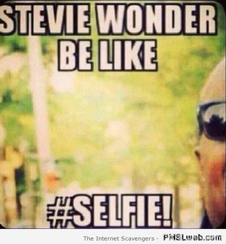 Stevie Wonder Selfie