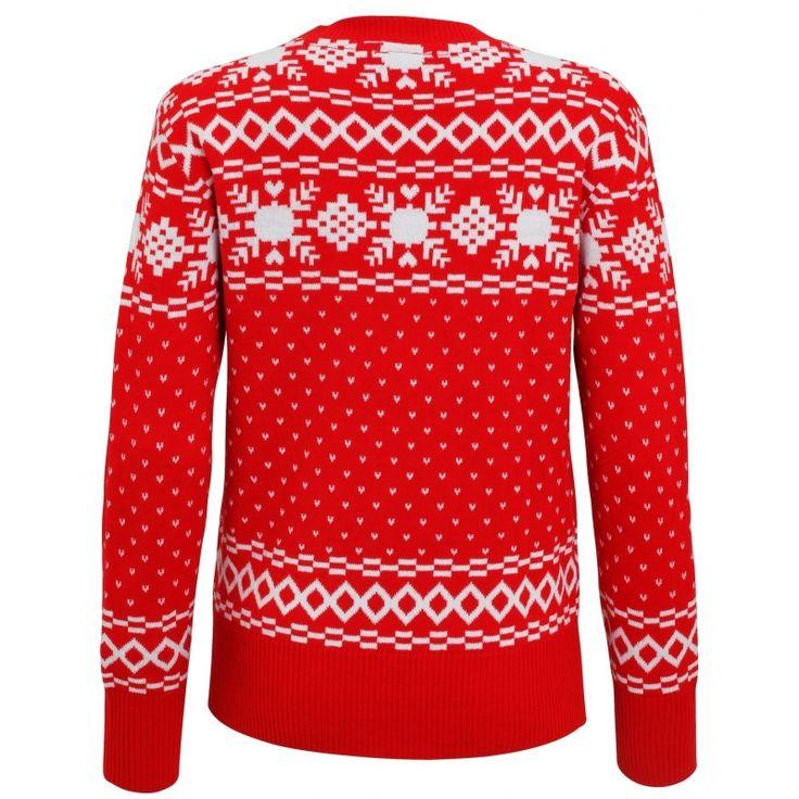 Foute kerstprint truien Nordic  Rode dames kersttrui Nordic print. De kersttrui is gemaakt van 100% acryl.  EUR 33.95  Meer informatie