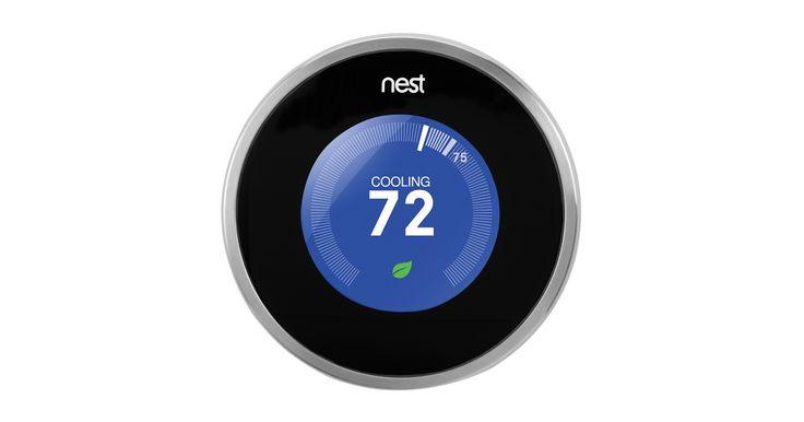Le thermostat intelligent Nest vous permet de contrôler la température de votre domicile depuis votre iPhone, iPad ou iPod touch. Achetez-le dès maintenant sur l'Apple Store en ligne.
