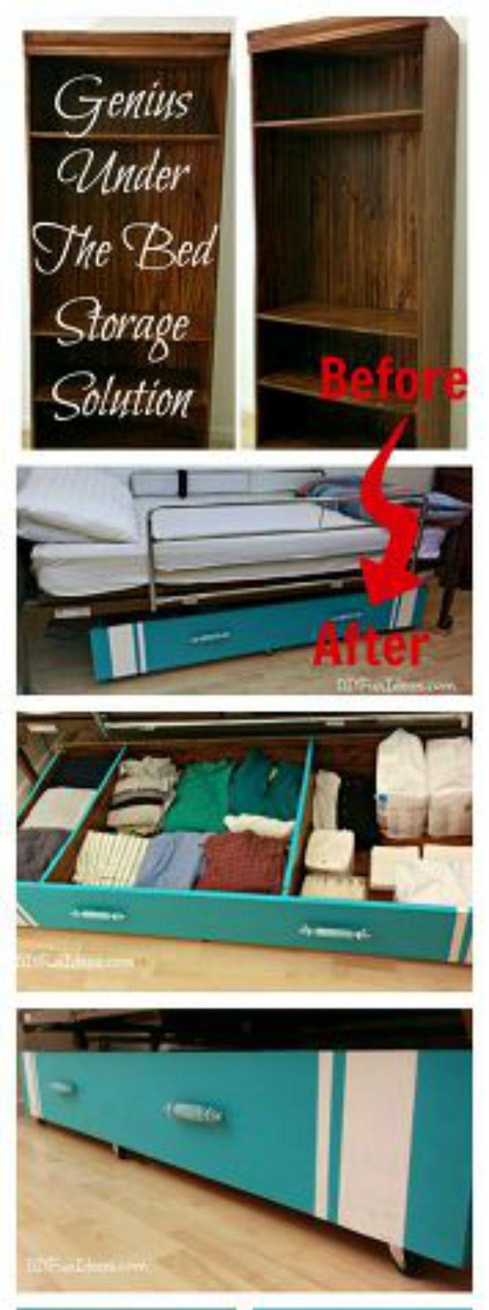 Genius under the bed storage solution
