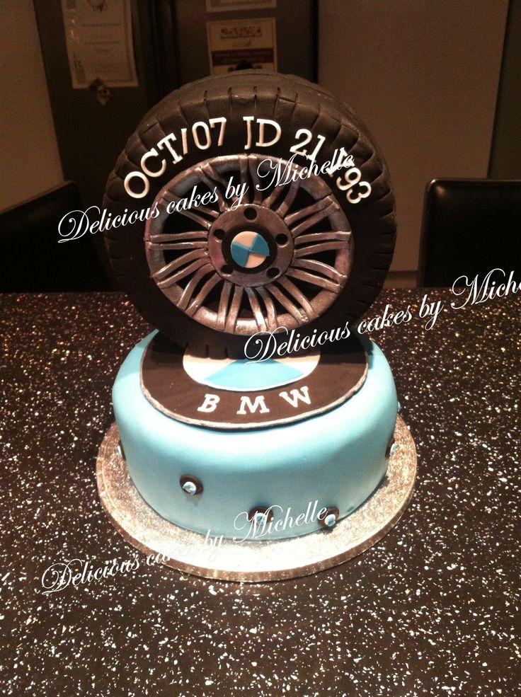 BMW themed cake