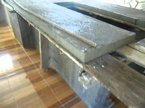 Construir muebles de cocina de cemento