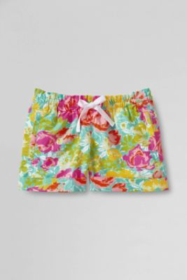 Girls Pattern Twill Pull-on Shorts from Lands End
