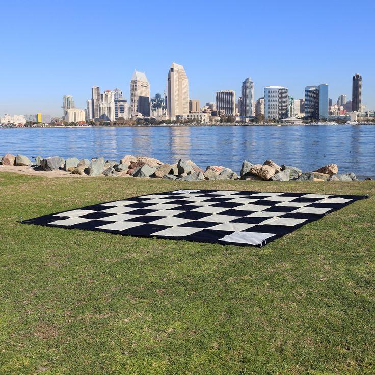 "Giant Checkers Nylon Mat (8'10"" x 8'10"")"