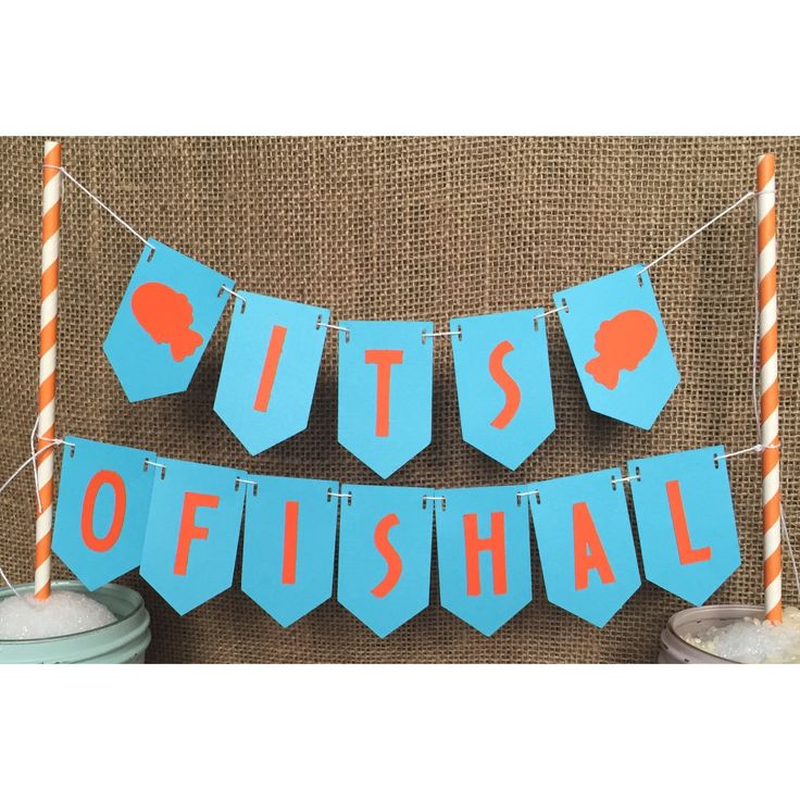 Ofishal cake topper, adoption party, cake topper, fish cake topper, cake topper cake topper banner cake topper birthday adoption party decor by FalcoClan on Etsy https://www.etsy.com/listing/259573667/ofishal-cake-topper-adoption-party-cake