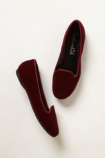 Cannes Velvet Smoking Loafers #anthropologie