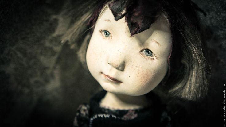 Купить Маленькая моль - серый, авторская кукла, любить и жаловать, ла долл, трессы, хлопок