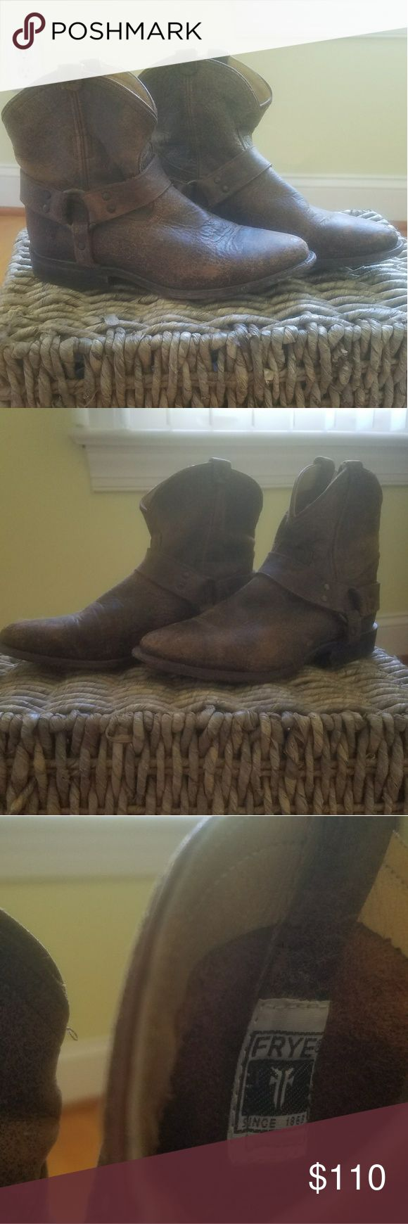 Frye Wyatt Harness Short- Distressed Nubuck Fine leather boots that will last a lifetime. Frye Shoes Ankle Boots & Booties