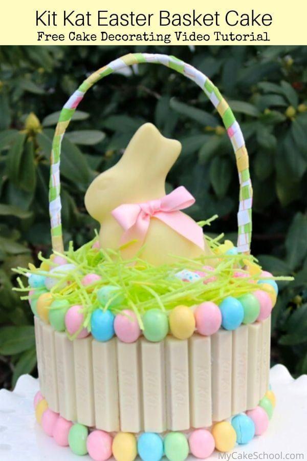 Kit Kat Easter Basket Cake Free Video Tutorial Cake Decorating