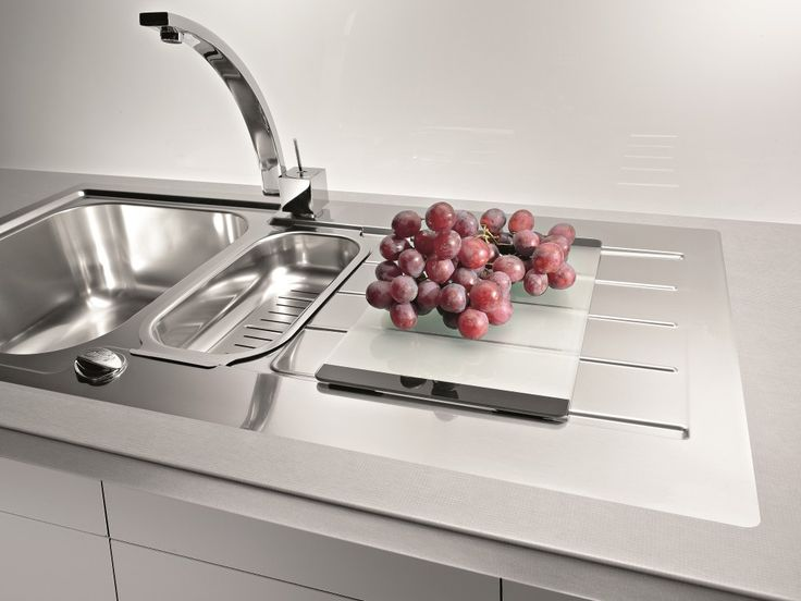 PERFECT flushmount finish - recessed at perfect height Alveus Line Maxim 10, flush or flat-mount sink