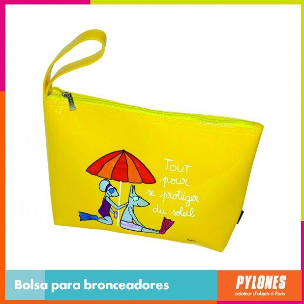 Bolsa para bronceadores amarilla #SemanaSanta #Santo #Vacaciones  @pylonesco