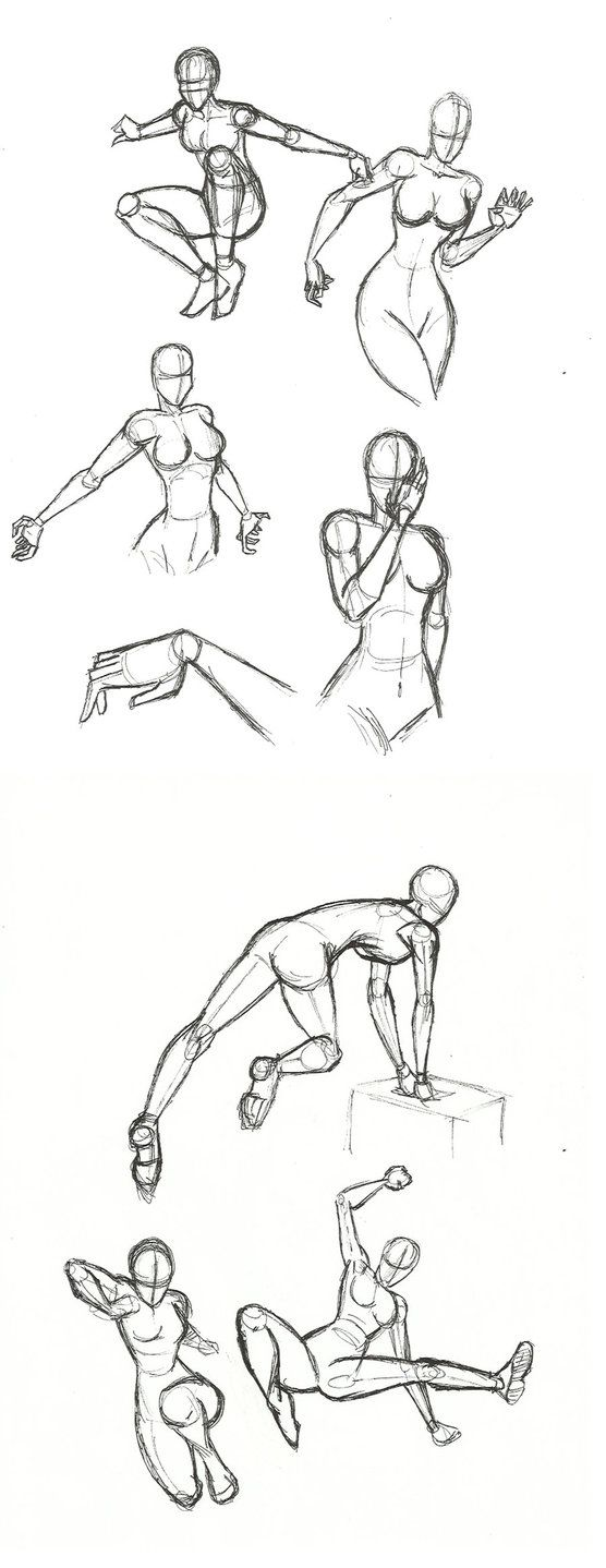 Dynamic Pose practice by SykoZombieChick on DeviantArt