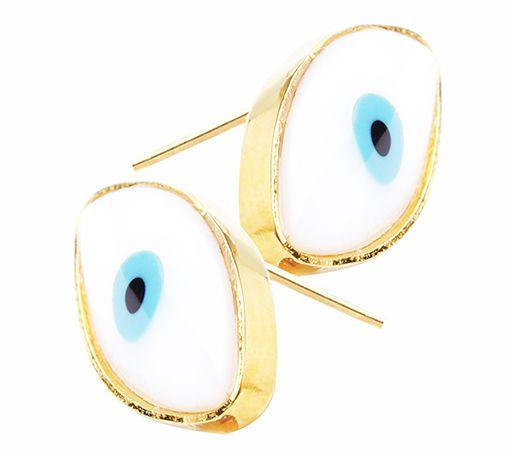 Aretes ovalo ojos turcos de Ananda Store $75.000