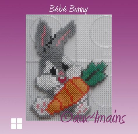 Baby Bugs Bunny hama perler by aux4mains