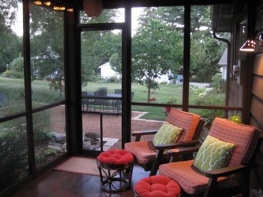 small screened porch