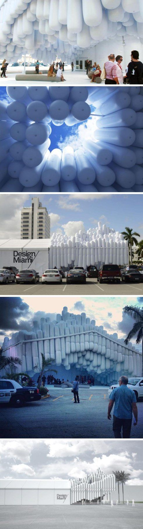 Design Miami 2012, Cool entrance installation by Daniel Arsham, Snarkitecture, Drift