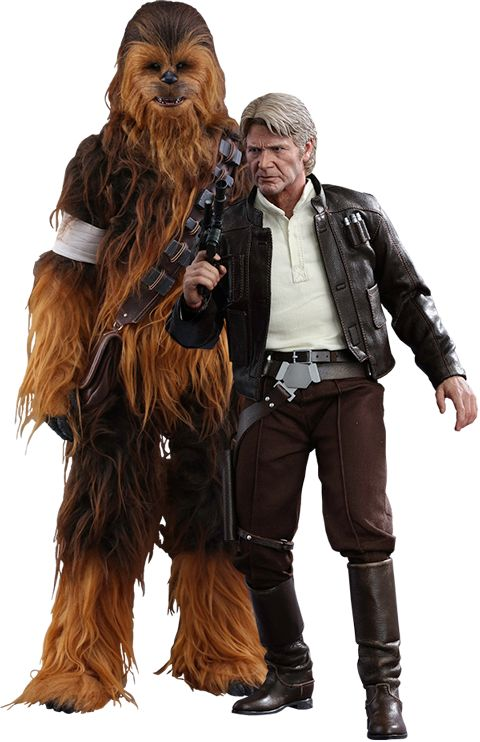 Star Wars Han Solo and Chewbacca Sixth Scale Figure Set by H | Sideshow Collectibles