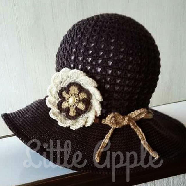 Sombrero dama a crochet  #littleappletejidos #crochet #tejidos #Guatemala #artesaniaguatemalteca #hechoamano #boinadama #dama #accesorios #hilos