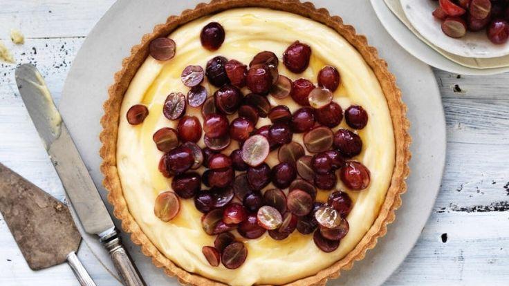 Grape and honey creme flan recipe