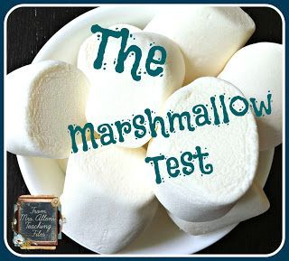 Teaching self control with a fun marshmallow lesson!