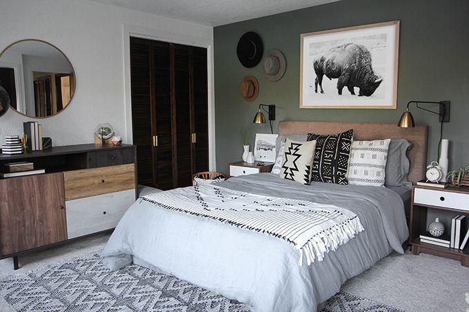 » I SPY DIY DESIGN   Woodsy Bedroom Makeover