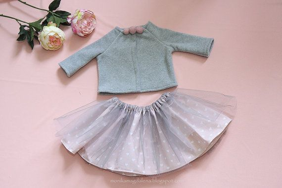 Set for baby girl's sweatshirt fleece skirt by MonikaMagdalenapl
