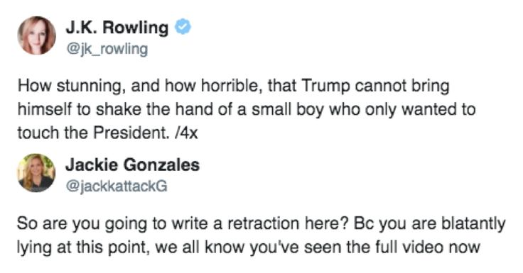 JK Rowling Falls Silent As Twitter Roasts Her For Spreading Lies About Trump Ignoring A Disabled Kid