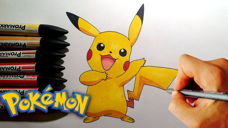 How to draw Pikachu from Pokemon Step by Step
