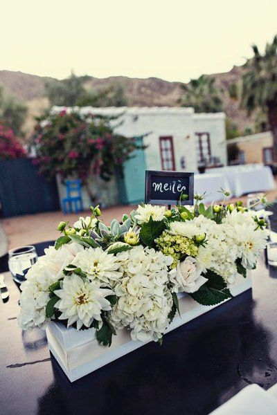The perfect floral design for a WHITE Wedding in the Napa Valley.
