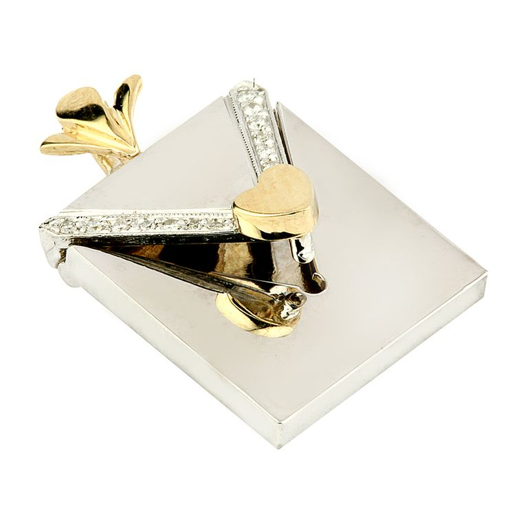 A private note pendant. Short and sweet brief message on a piece of silver or gold metal sheet of your choice.