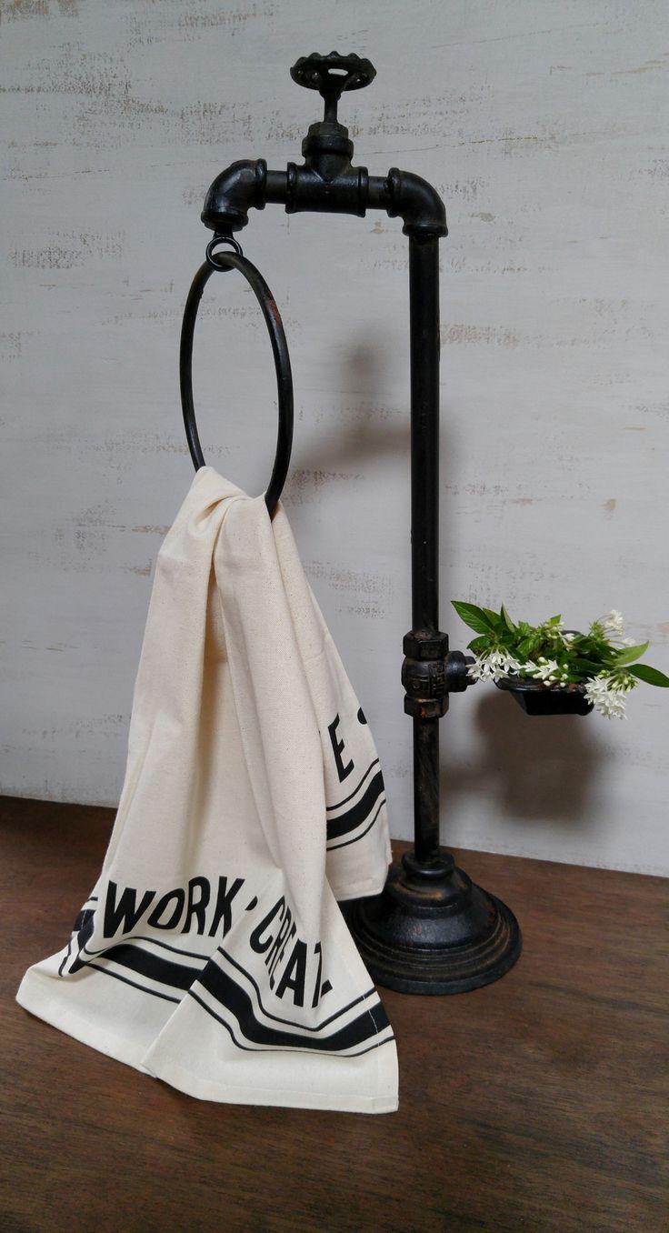 Industrial Garden Spigot Soap and Towel Holder More