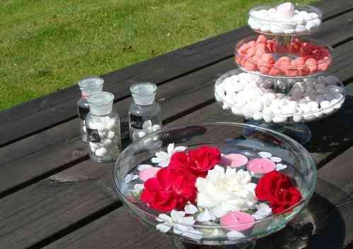 Coupe en verre sur pied centre de table mariage - Coupe en verre sur pied centre de table ...