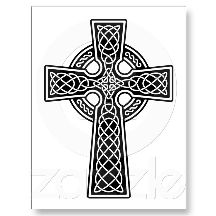 Celtic Cross black and white Post Card on Zazzle.co.nz ...