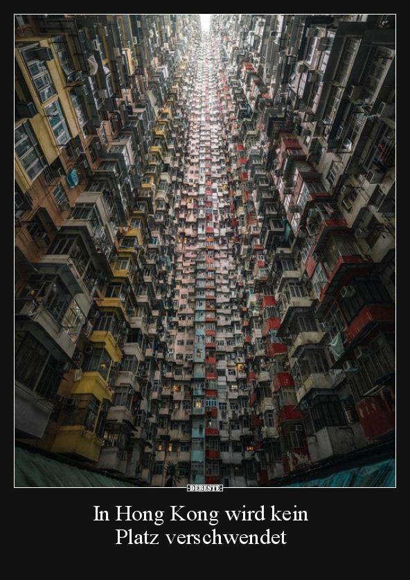 In Hong Kong wird kein Platz verschwendet.. | Lustige Bilder, Sprüche, Witze, echt lustig