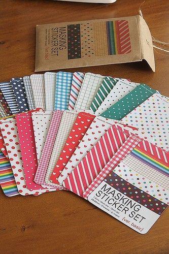 Washi+Tape+StickersJapanese+Masking+Tape+Sticker+by+sugarbsupplies,+$7.00