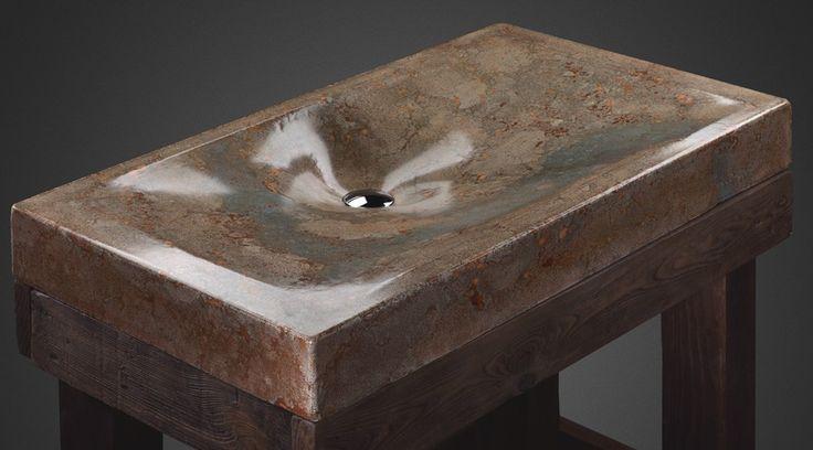 concrete sink by Pietra Danzare named Mirage in a desert
