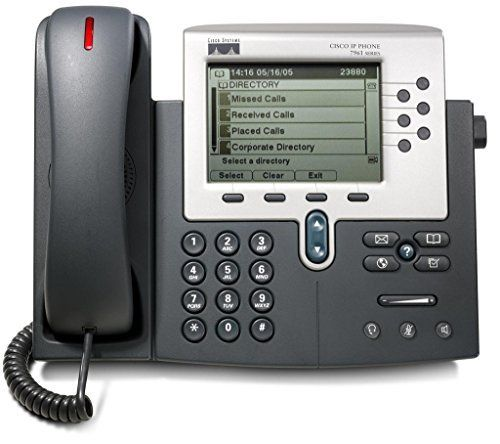 Cisco Systems 7961G Unified IP VOIP Office Phone (Cisco CallManager Required). A higher-resolution, graphical 4-bit grayscale display (320 x 222). Support for both IEEE standard 802.3af inline power and Cisco inline power. A full-featured handset with six programmable line and feature buttons. Four interactive softkeys to help guide users through various call features and functions. PoE (Powered over Ethernet) by design - Power Supply Not Included. Cisco CallManager Required.