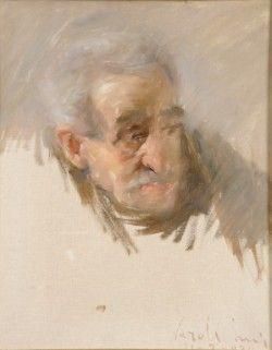 Luigi Varoli / Ritratto di anziano / 1920 / olio su tela cm 48x40 / Museo Civico Carlo Venturini Massa Lombarda