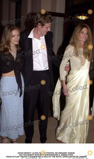 Jemima Goldsmith, in a sari,with her brother Zac.