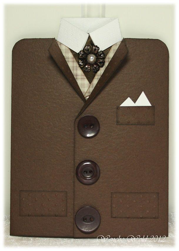Скрапбукинг открытка мужская пиджак, мужу жены любовью
