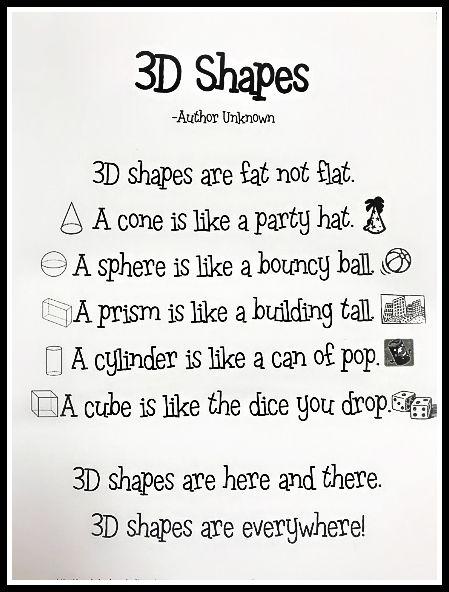 math poem 3rd grade poem used to introduce and remember 3d shapes unt edre 3d. Black Bedroom Furniture Sets. Home Design Ideas
