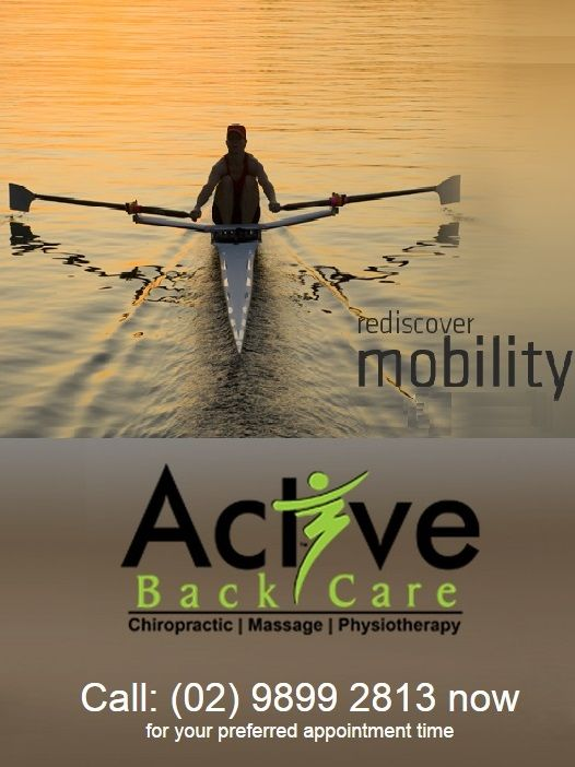 Treat and prevent your back pain, neck pain, and sports injuries through Chiropractic, Massage Therapy, and Physiotherapy techniques Active Back Care provide and rediscover your mobility.  http://activebackcare.com.au/