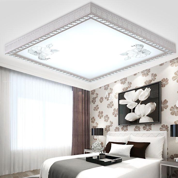 Площадь и прямоугольник современный потолочные Abajur искусства верхнего света фойе зала светильник освещение спальни гостиной лампа купить на AliExpress