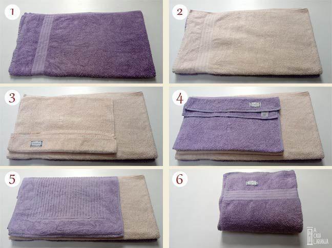 Como dobrar toalhas.
