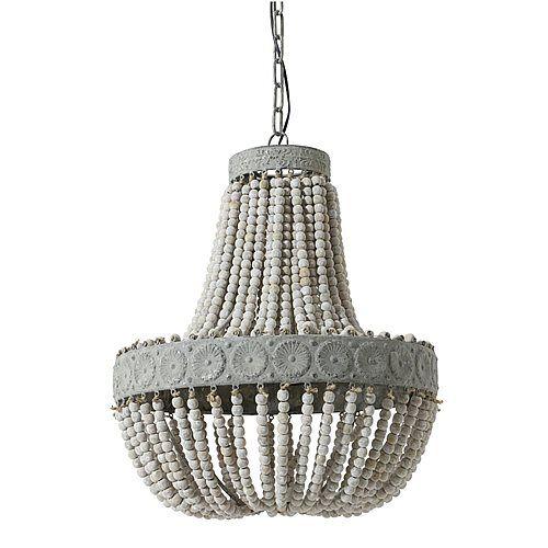 Light & Living Luna Beads Hanglamp Ø 52 x 61,5 cm - Grijs € 405,-