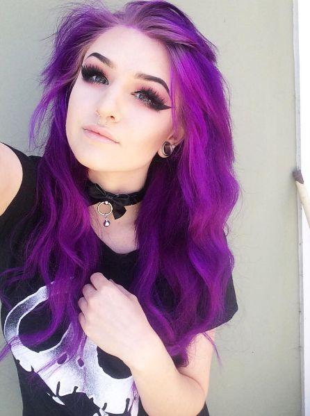 Best 25+ Bright purple hair ideas on Pinterest | Bright ...